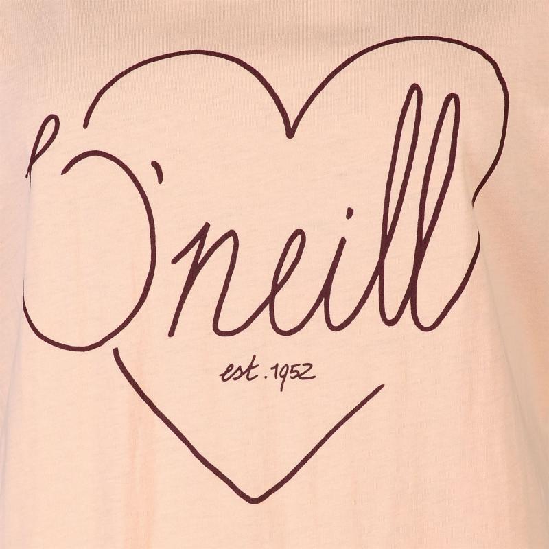 ONeill Love Short Sleeve T Shirt Ladies Tropical Peach