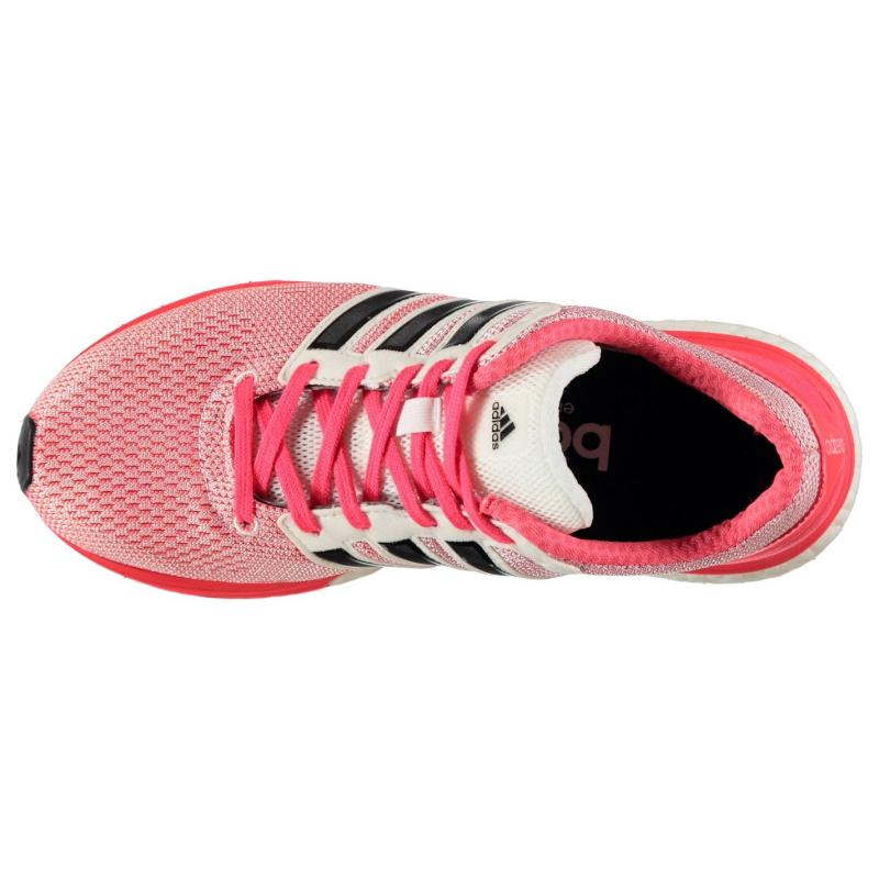 Boty adidas adizero Boston 5 Ladies Running Shoes White/Blk/Red, Velikost: UK6 (euro 39)
