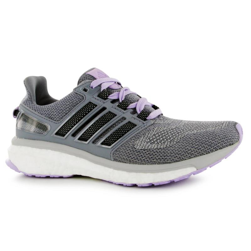Boty adidas Energy Boost 3 Running Shoes Ladies Grey/Blk/Purp, Velikost: UK4 (euro 37)