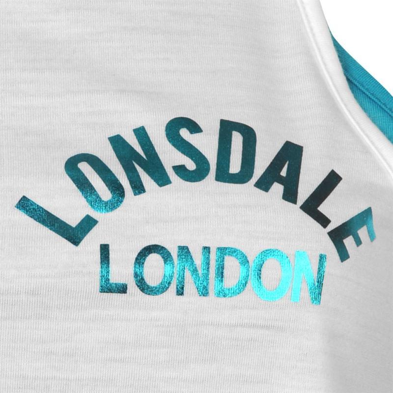 Lonsdale Layer Vest Ladies White/Teal