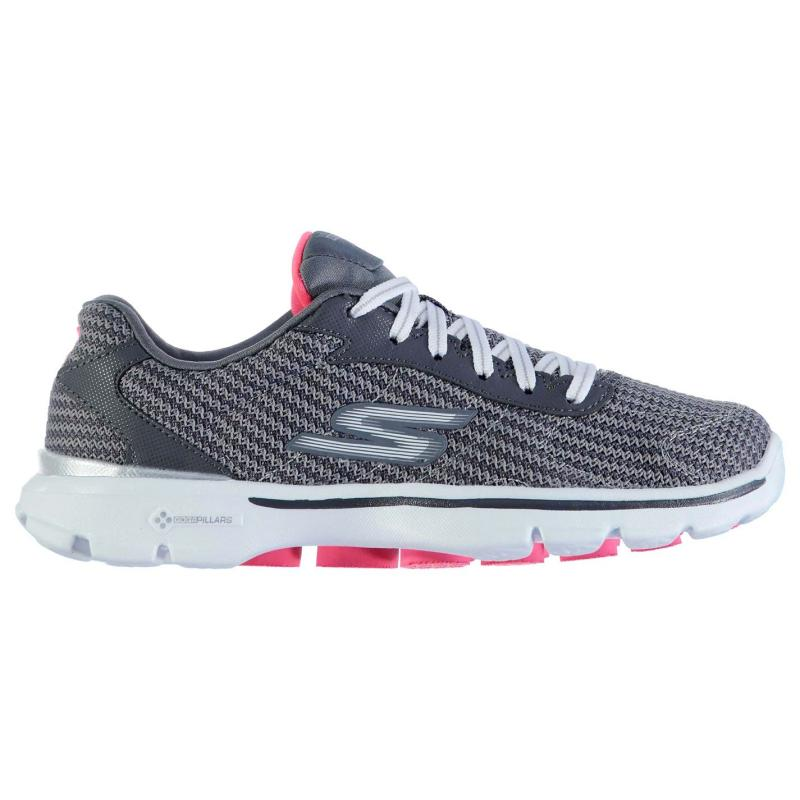 Boty Skechers Go Walk 3 Fit Knit Ladies Trainers Charcoal, Velikost: UK6 (euro 39)
