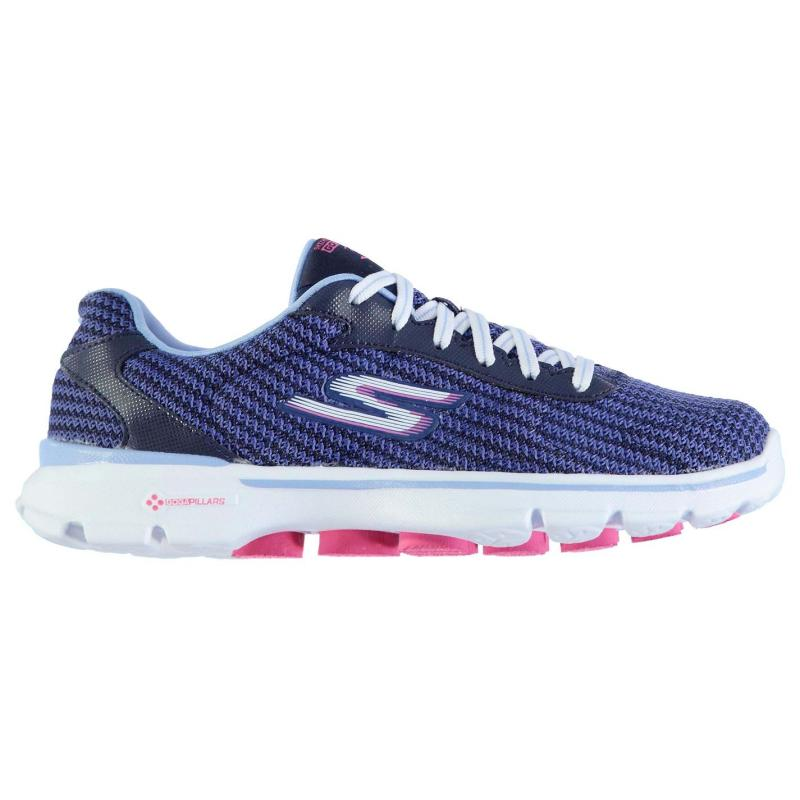 Boty Skechers Go Walk 3 Fit Knit Ladies Trainers Navy/Blue, Velikost: UK6 (euro 39)