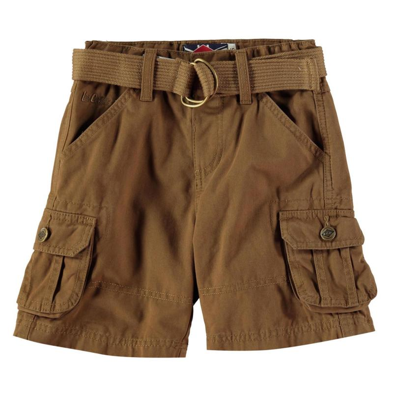 Kalhoty Lee Cooper Belted Cargo Shorts Infant Boys Mocha
