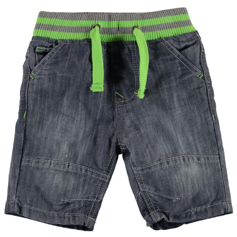 Kraťasy No Fear Ribbed Waist Shorts Boys Mid Wash