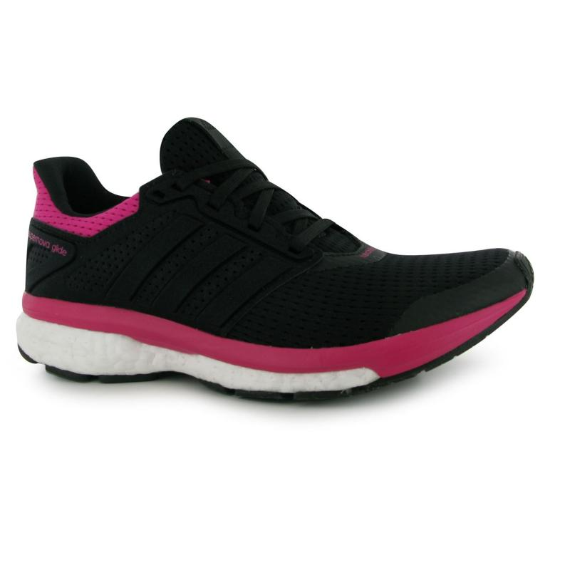 Boty adidas Supernova Glide 8 Running Shoes Ladies Black/Pink, Velikost: UK4 (euro 37)