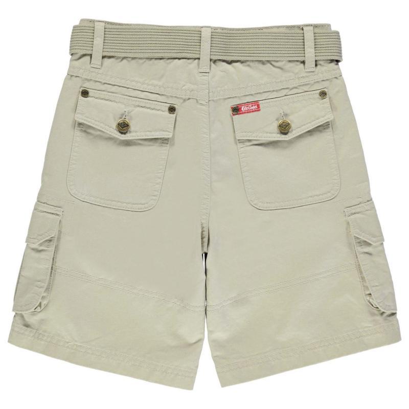 Kalhoty Lee Cooper Belted Cargo Shorts Junior Boys Dark Blue