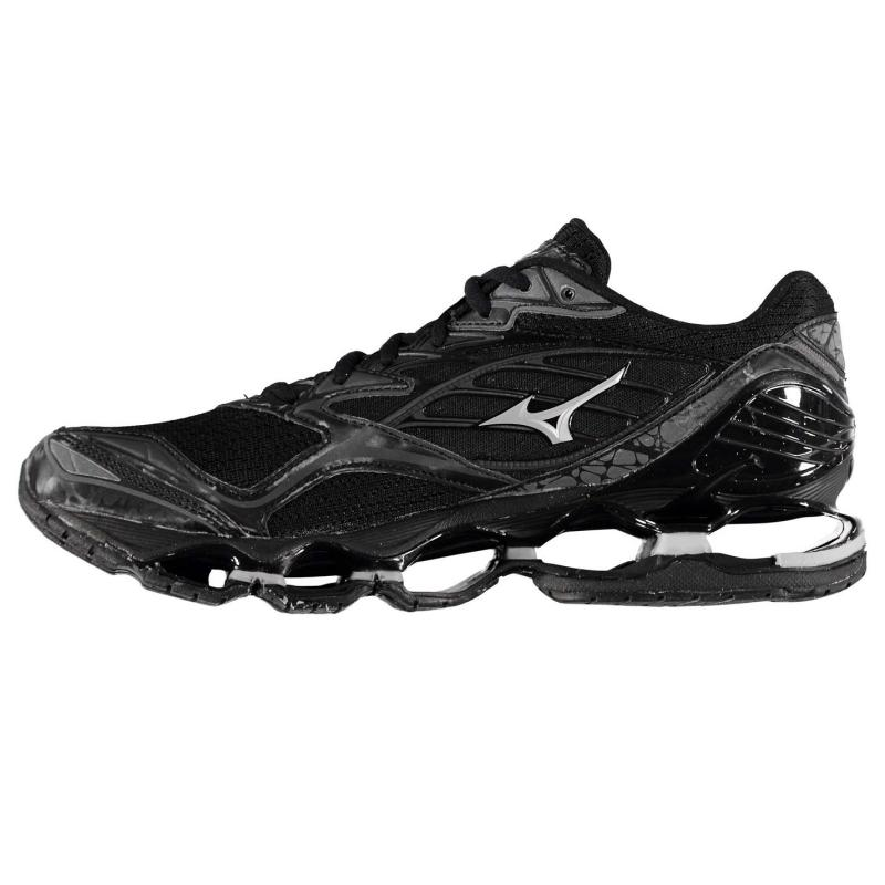 Mizuno Wave Prophecy 6 Mens Running Shoes Black/Silver, Velikost: UK9 (euro 43)