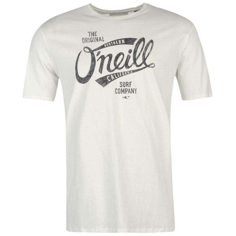 Tričko ONeill Script Short Sleeve T Shirt Mens Black Out