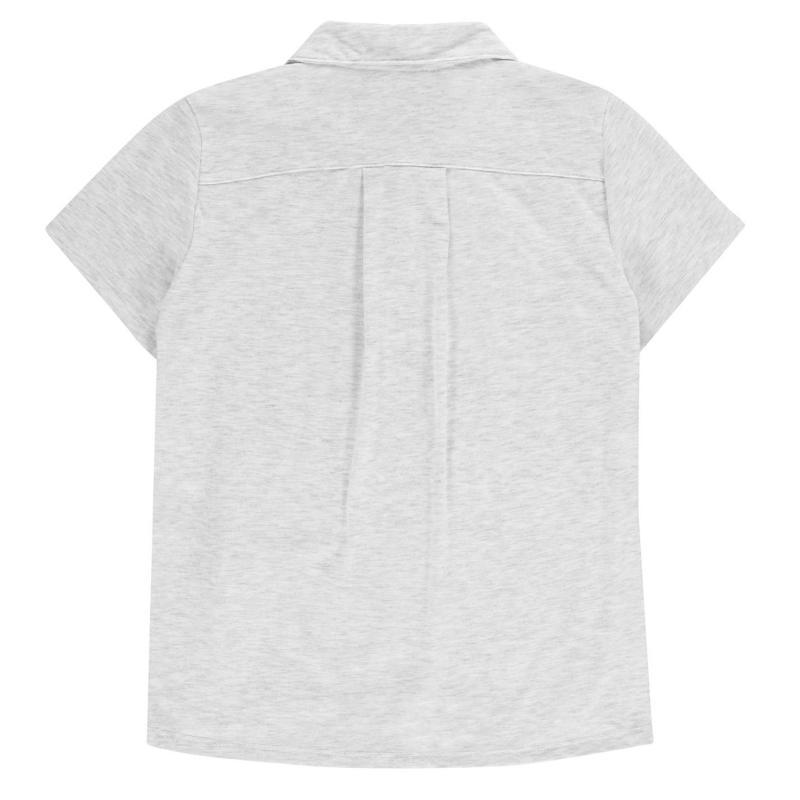 adidas Short Sleeve Golf Polo Junior Girls Grey, Velikost: 11-12 let (LB)