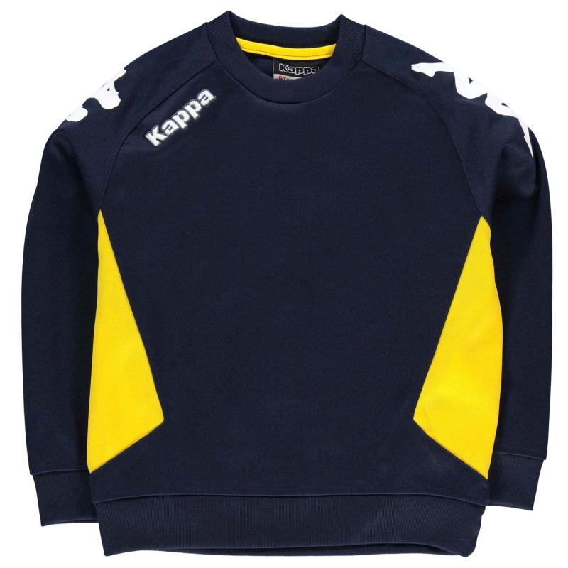 Mikina Kappa Cremone Sweater Junior Boys Navy/Yellow