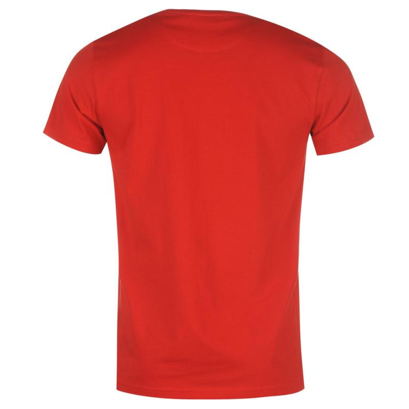 Pierre Cardin Plain T Shirt Mens Bright Red