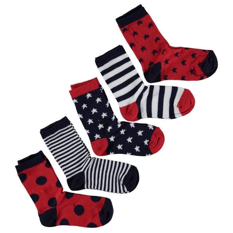 Ponožky Crafted B5PK StarStrpeChd72 Red
