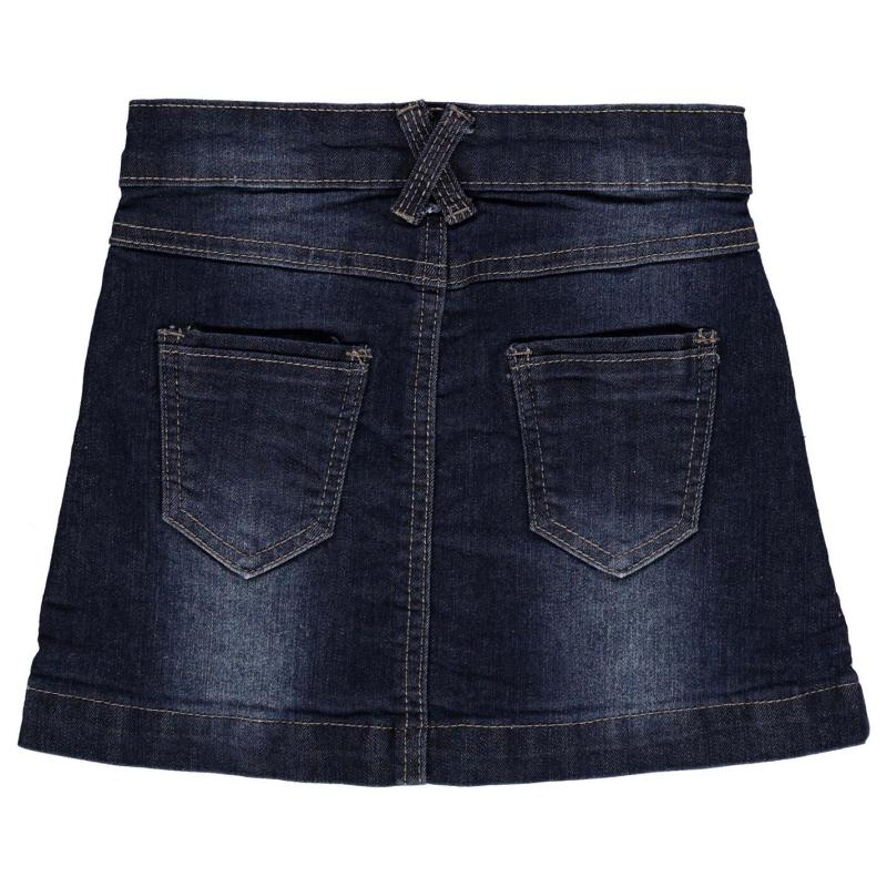 Crafted Badge Skirt Child Girls DENIM