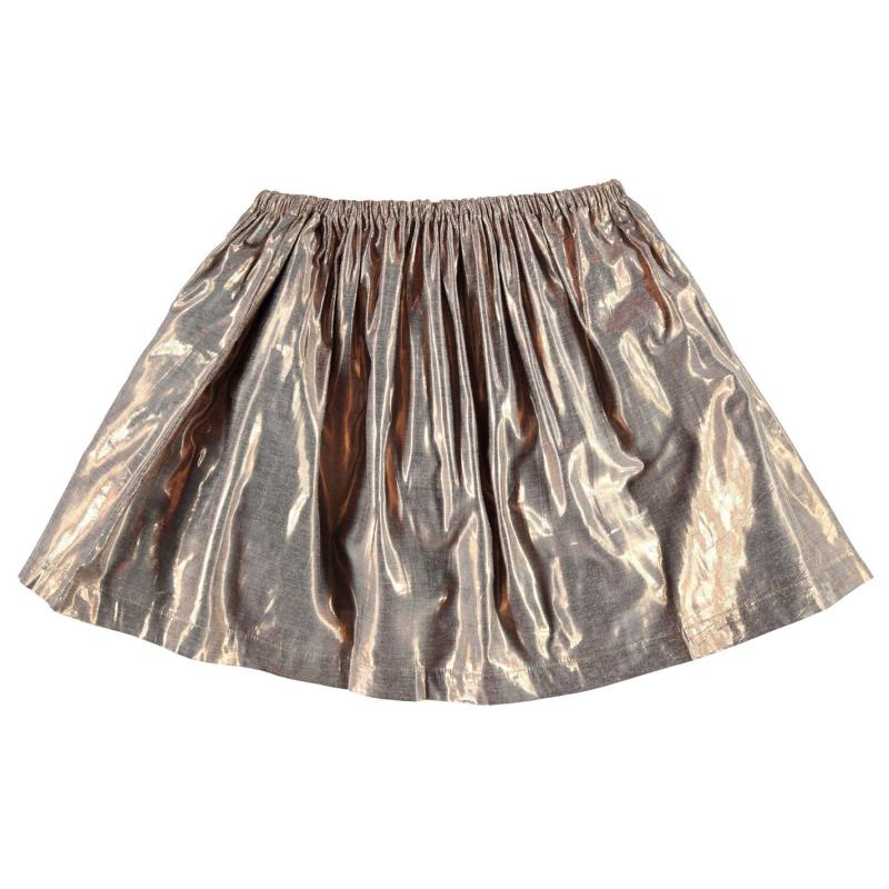 French Connection Metallic Skirt Gold Metallic
