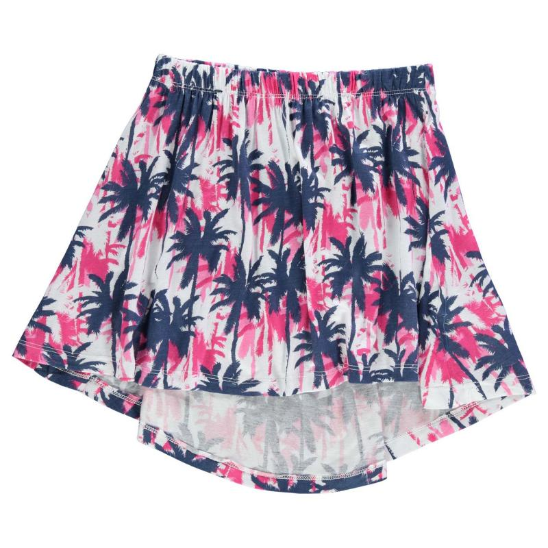 Lee Cooper AOP Dip Hem Skirt Junior Girls AOP Tie Dye