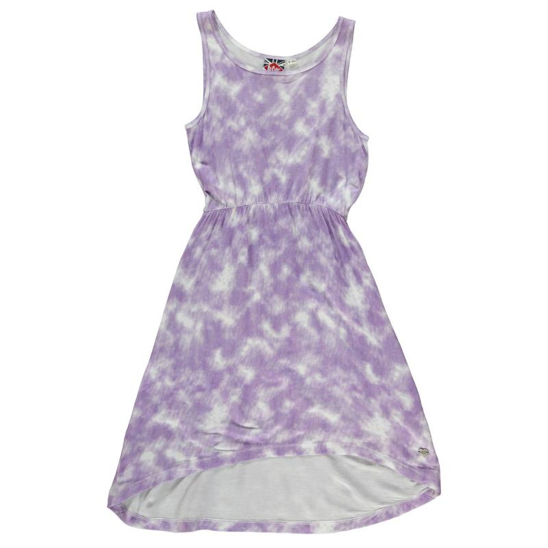 Šaty Lee Cooper Dip Hem AOP Dress Junior Girls AOP Tie Dye