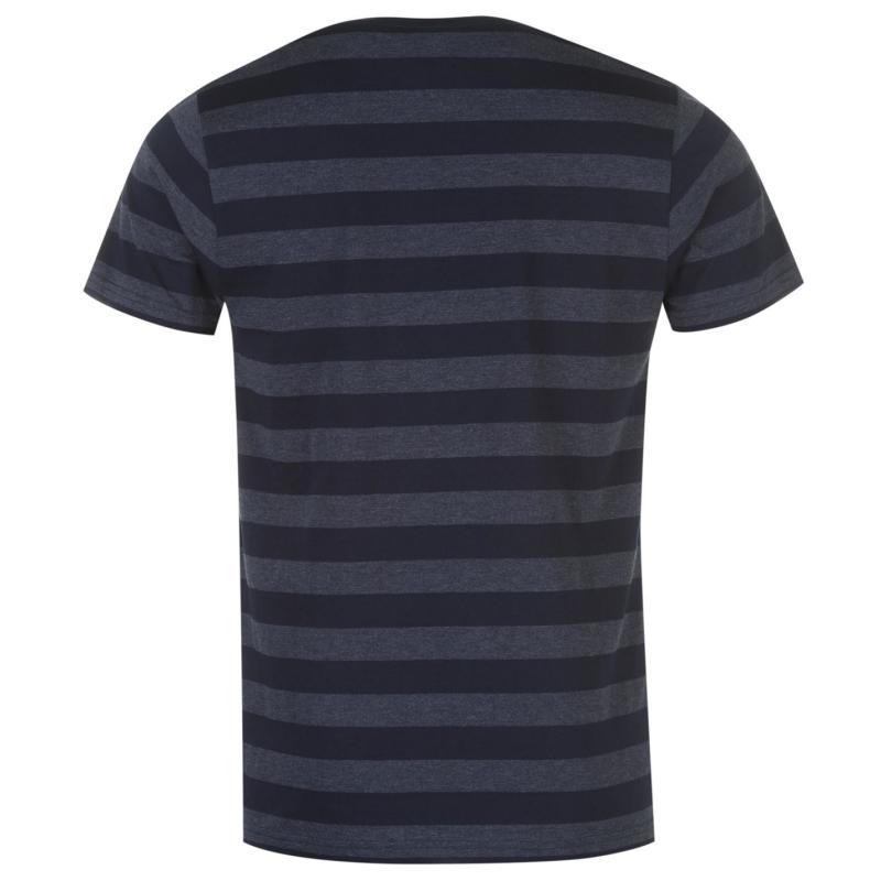 Lee Cooper Yard Crew T Shirt Mens Navy