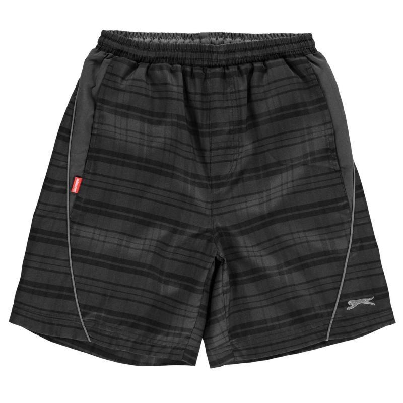 Kraťasy Slazenger Checked Shorts Junior Boys Black