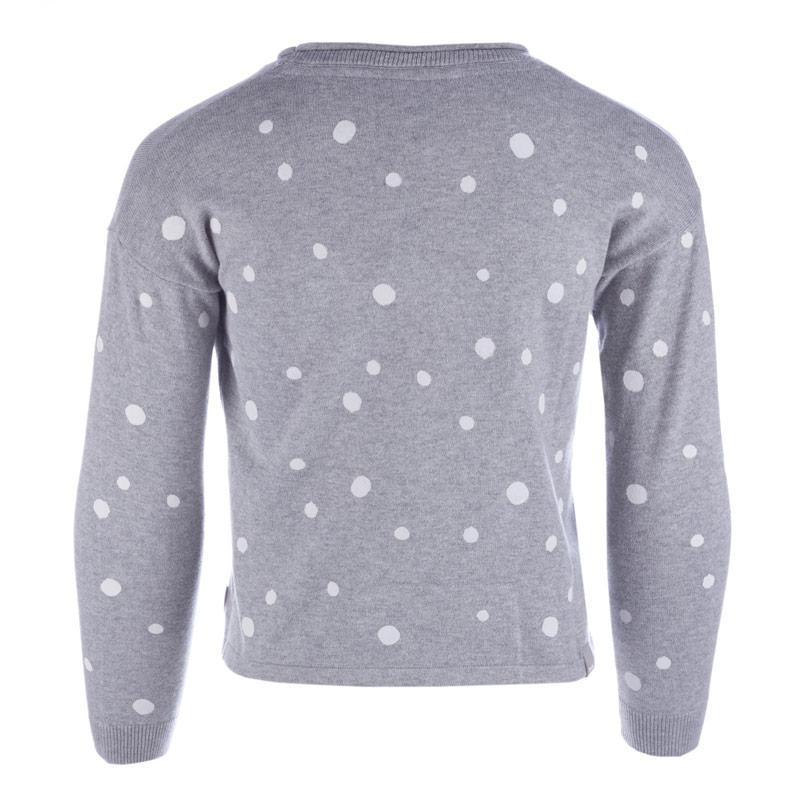 Bench Junior Girls Polka Dot Jumper Grey