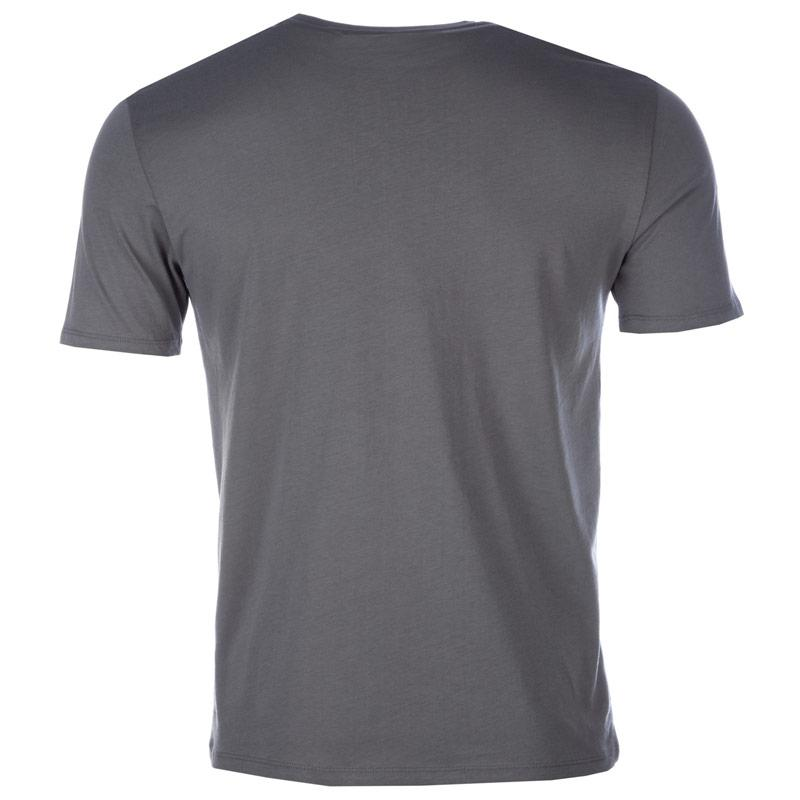 Tričko Armani Mens Vertical Large Logo T-Shirt Grey, Velikost: M
