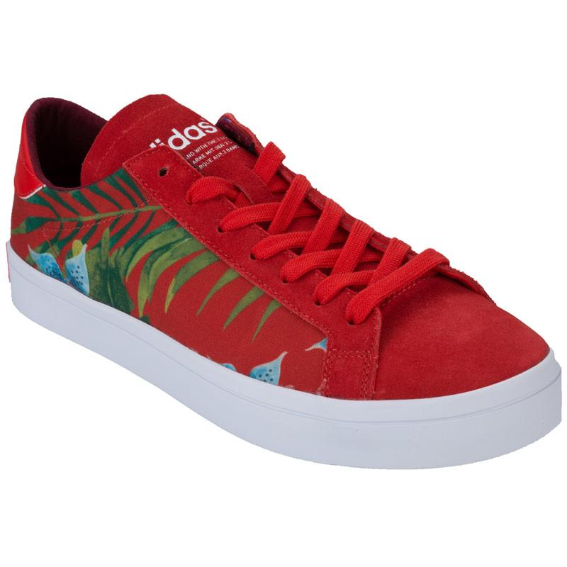Boty Adidas Originals Mens CourtVantage Trainers Red, Velikost: 8 (XS)