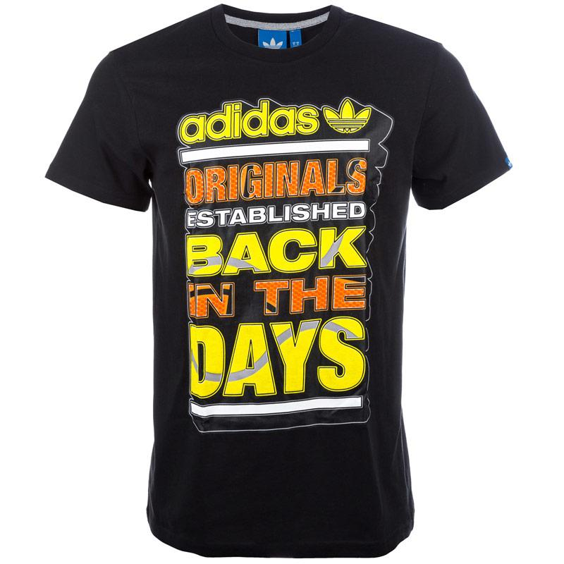Tričko Adidas Originals Mens Heritage T-Shirt Black