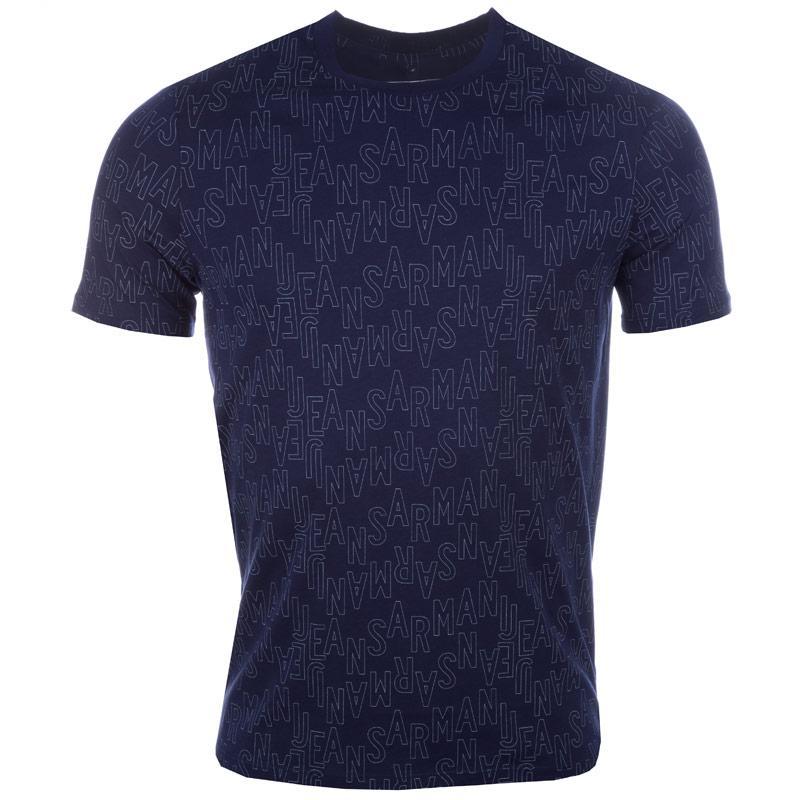 Tričko Armani Mens T-Shirt Navy, Velikost: L