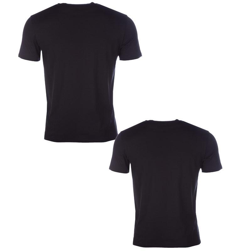 Tričko Armani Mens Twin Pack T-Shirt Black, Velikost: S