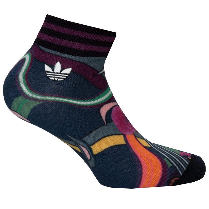 Ponožky Adidas Originals Womens Floral Burst Crew Socks Navy