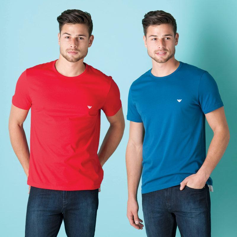 Tričko Armani Mens 2 Pack T-Shirt Black, Velikost: L