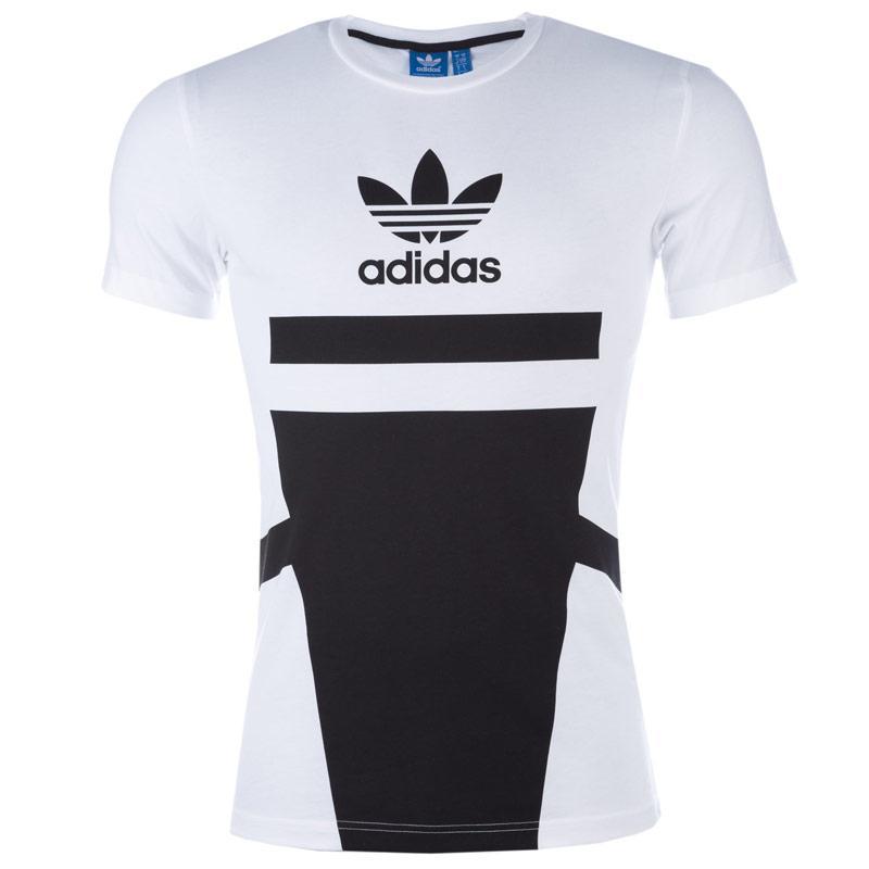 Tričko Adidas Originals Mens Logo Tee White Black