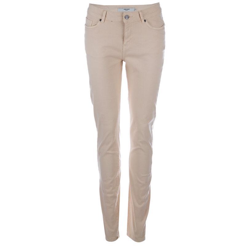 Kalhoty Vero Moda Womens Seven Slim Pants Oatmeal