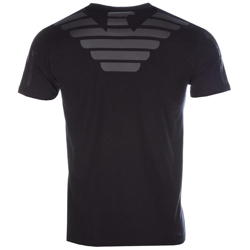 Tričko Armani Mens Back Logo T-Shirt Navy, Velikost: XXL