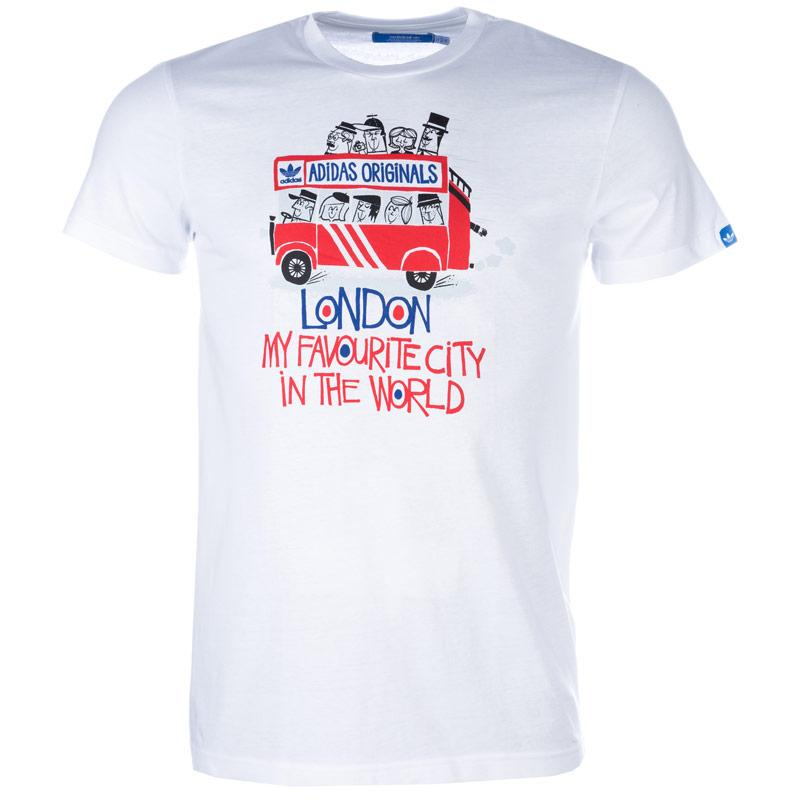 Tričko Adidas Originals Mens Bus Tour Graphic T-Shirt White