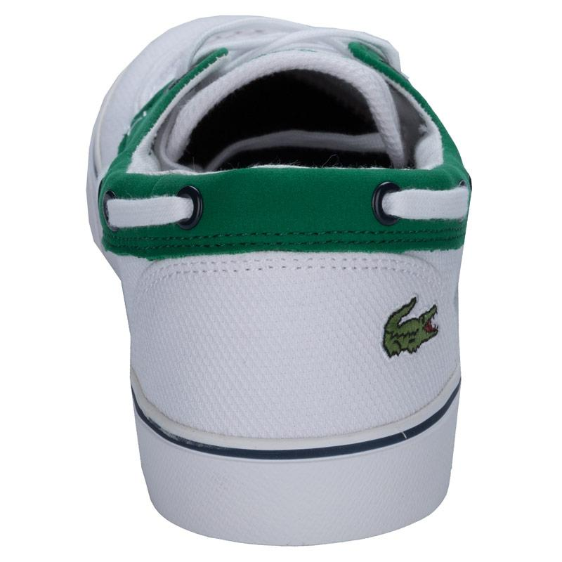Boty Lacoste Junior Boys Keel 2 Trainers White Green