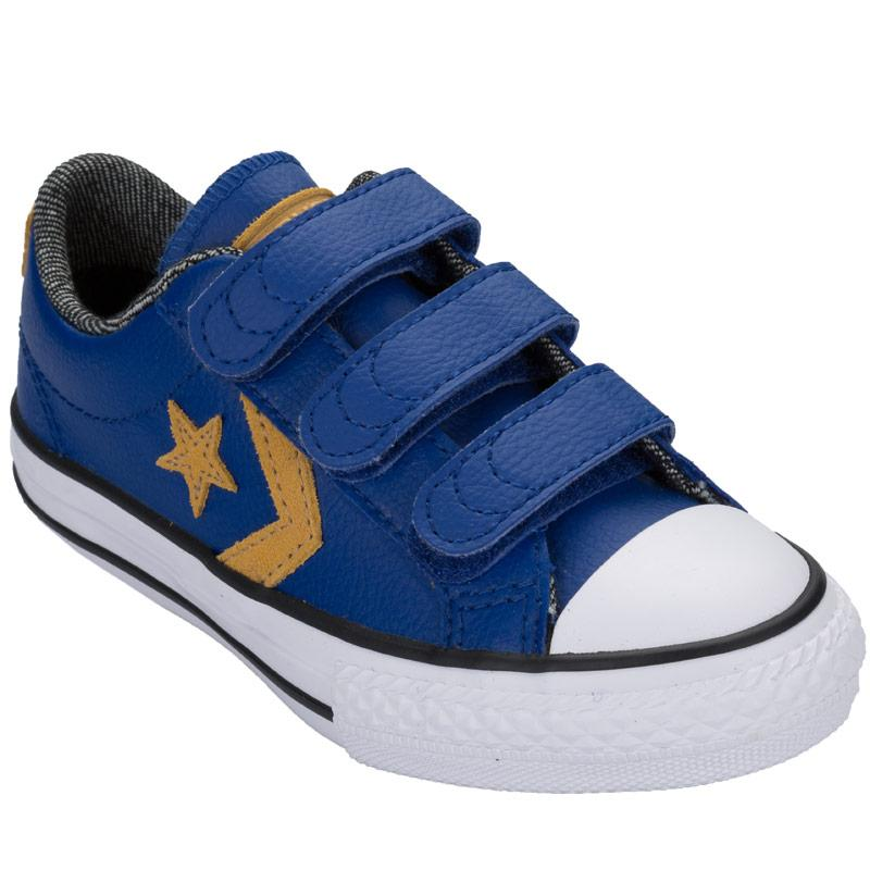 Boty Converse Junior Boys Star Player 3V Ox Trainers Blue, Velikost: UK5 (euro 38)