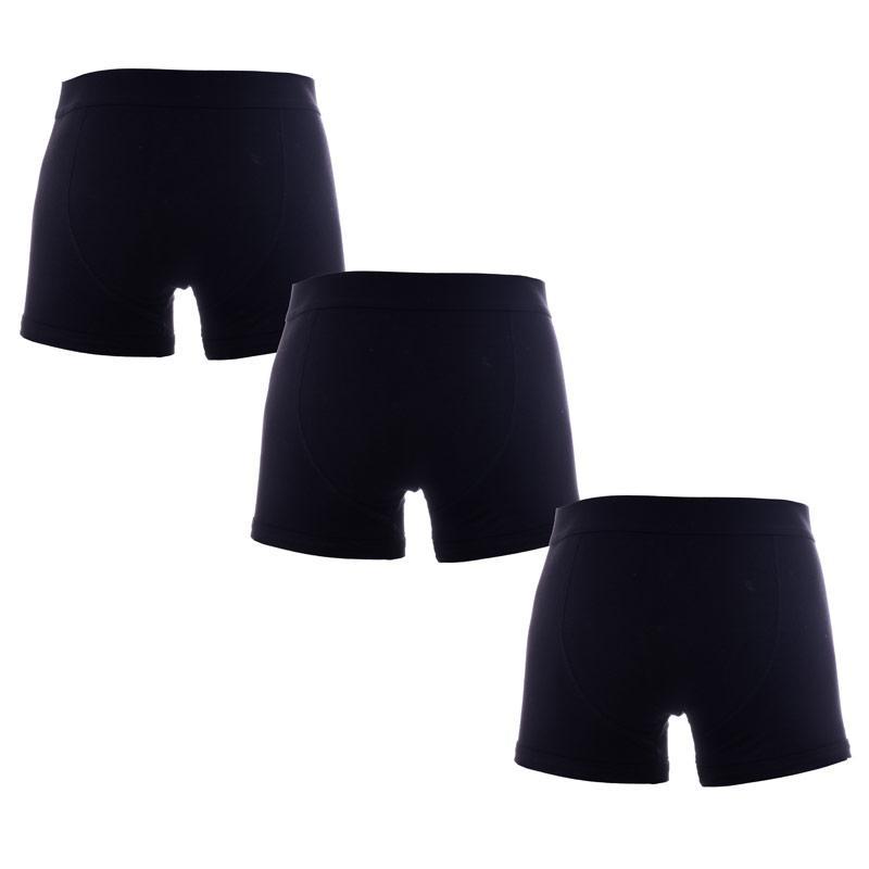 Spodní prádlo Bench Mens 3 Pack Brief Boxer Shorts Black