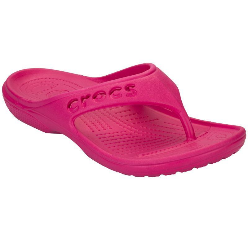 Crocs Womens Baya Flip Sandals Pink