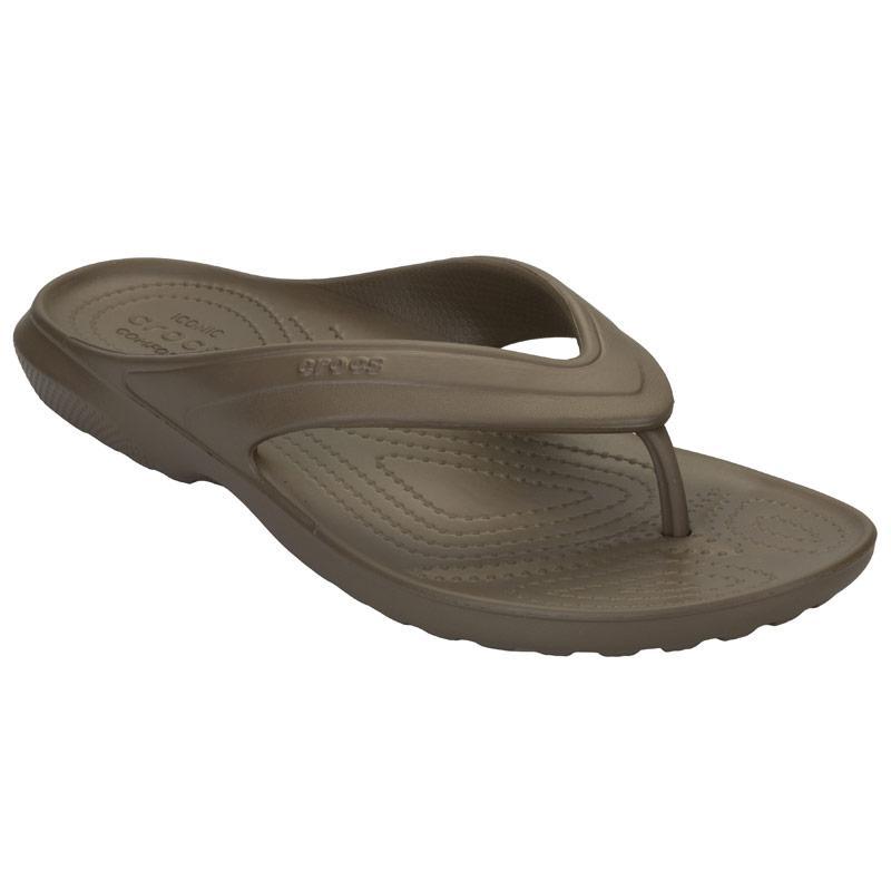 Crocs Womens Classic Flip Flops Walnut
