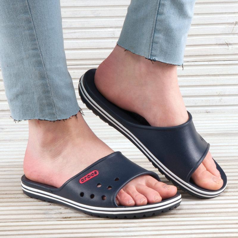 Crocs Womens Crocband LoPro Slide Sandals Navy