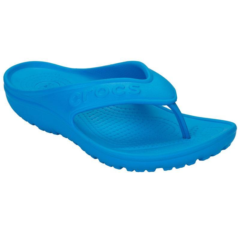 Crocs Womens Hilo Flip Sandals Blue