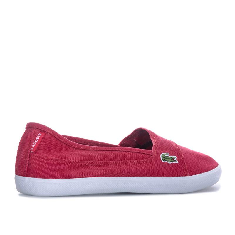 Lacoste Womens Marice LCR Canvas Trainers Red