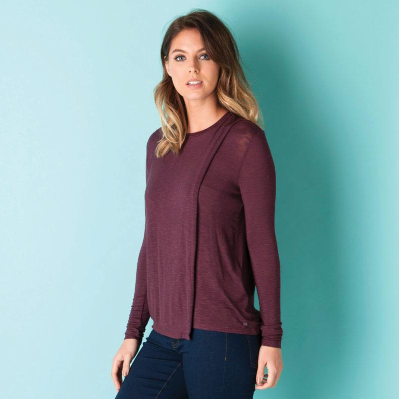 Bench Womens Enunciation Top Burgundy