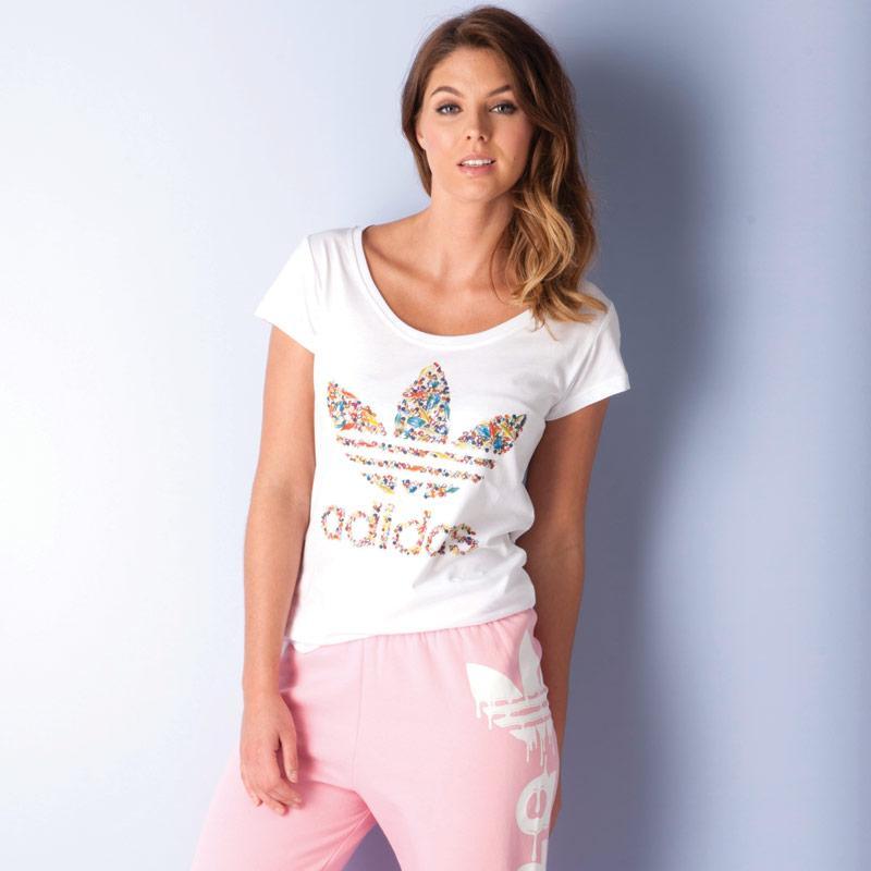 Adidas Originals Womens Precious Stones T-Shirt White