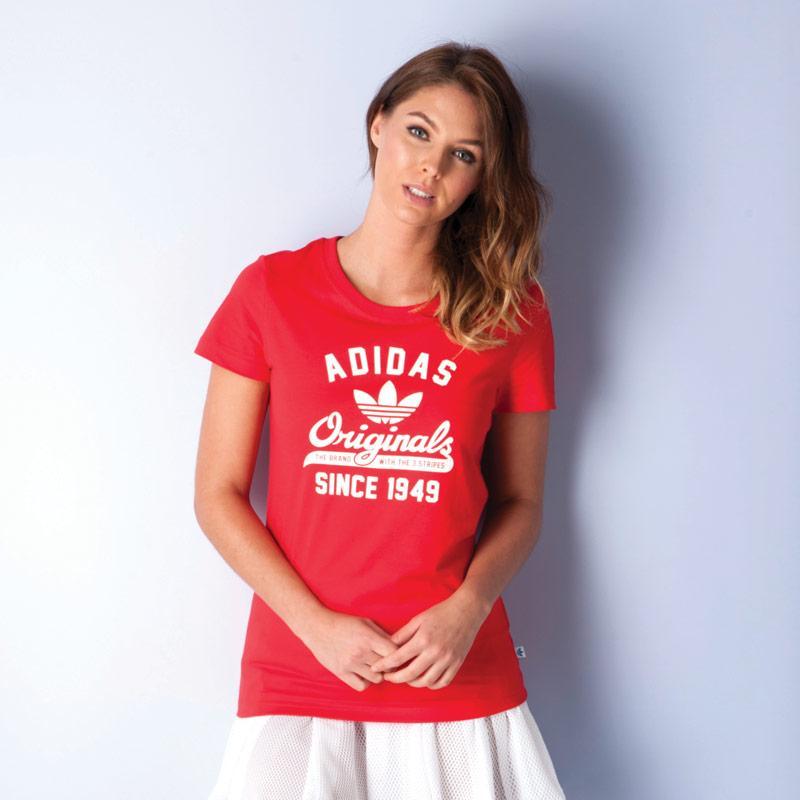 Adidas Originals Womens University T-Shirt Red