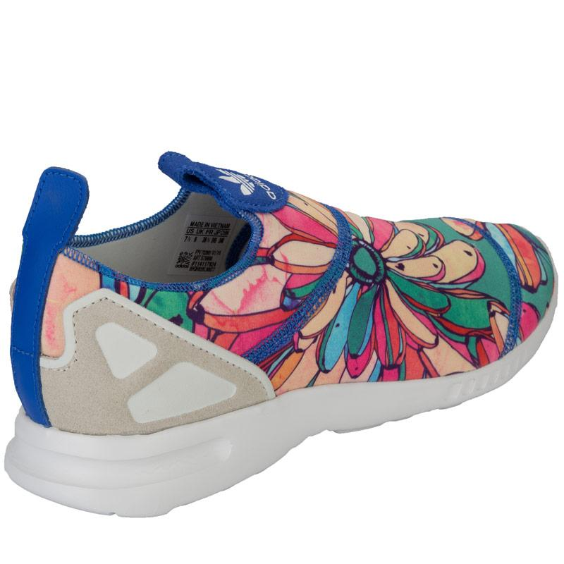 Boty Adidas Originals Womens ZX Flux Adv Smooth Slip On Trainers Blue, Velikost: UK6 (euro 39)