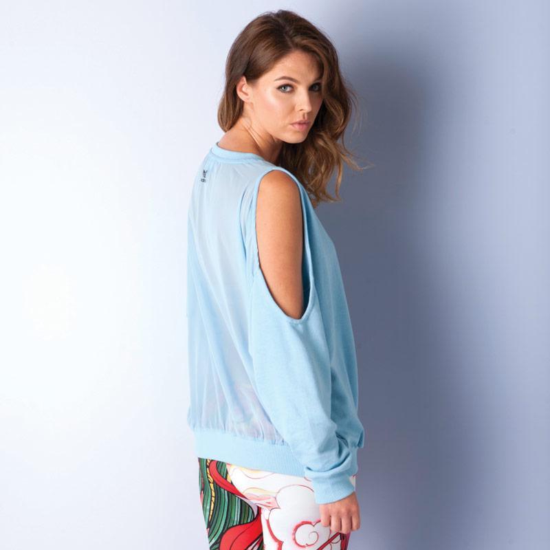Mikina Adidas Originals Womens Rita Ora Sweatshirt Blue, Velikost: 8 (XS)