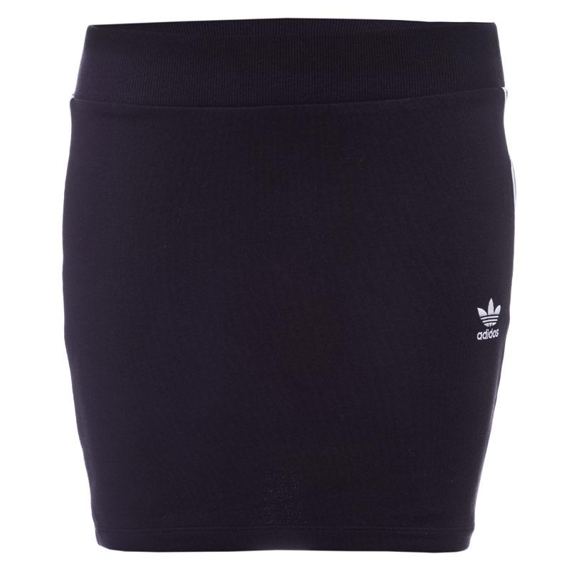 Sukně Adidas Originals Womens 3-Stripes Skirt Black