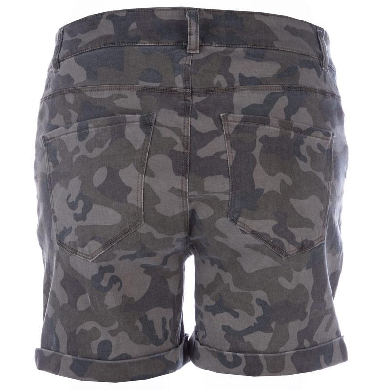 Šortky Vero Moda Womens Camo Shorts Green