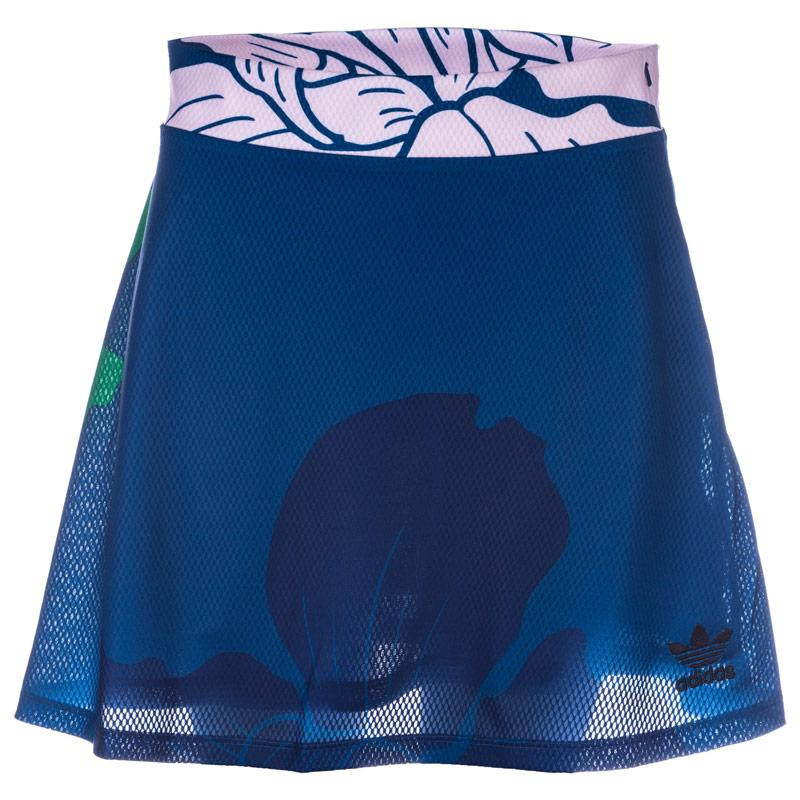 Sukně Adidas Originals Womens Floral Engraving Skirt Blue